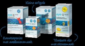 Equazen eye q in verschillende vormen - Capsules, Chews en Liquid